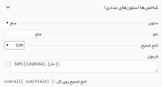فرمول نویسی در ساخت شاخصها و نمودارها در داشبورد مدیریتی صدف